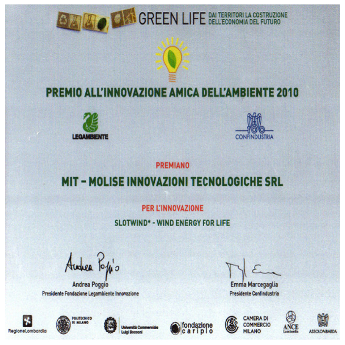 Friend of the Environment Innovation Award - MIT 2010
