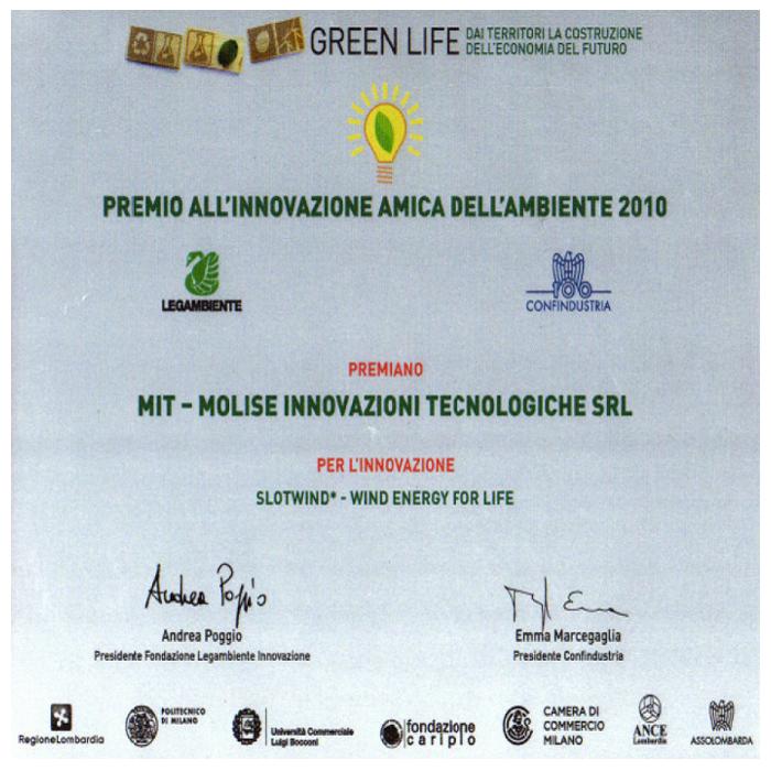 Premio a la Innovación Amiga del Ambiente - MIT 2010